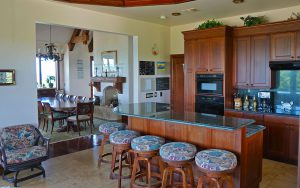 the kitchen of Tilloo Pond rental Bahamas home