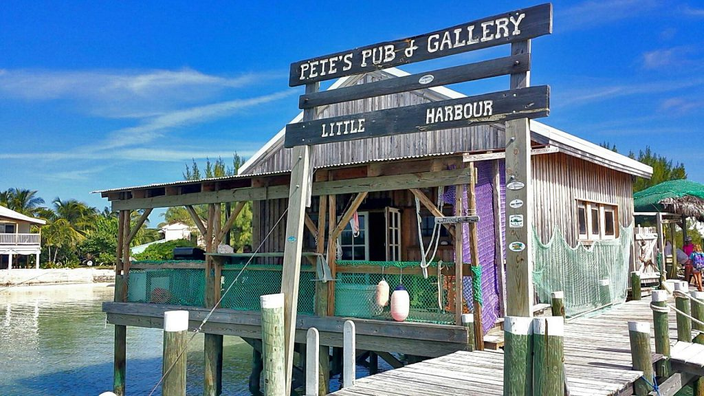 Petes pub in little harbour, abaco bahamas