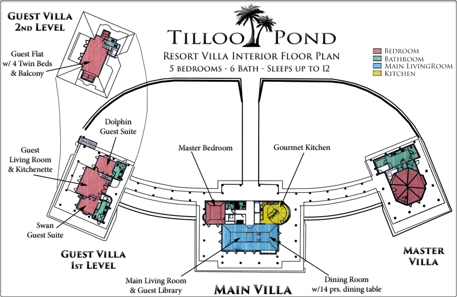 Villa Floorplan at Tilloo Pond