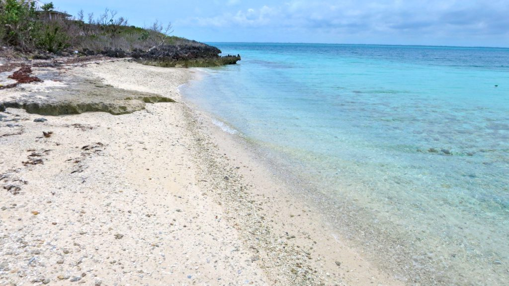 private beach on property in the sea of Abaco