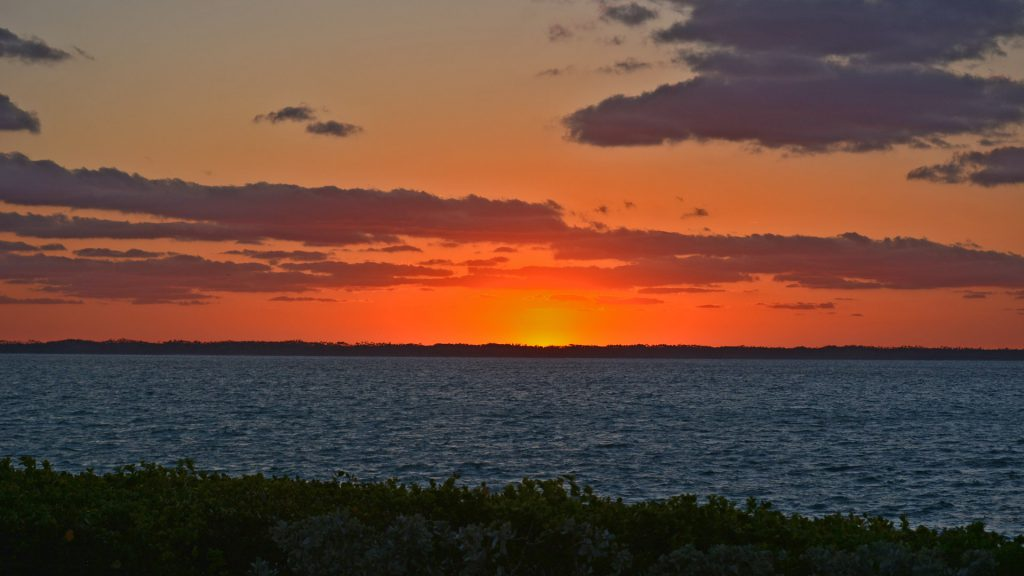 tilloo pond abaco sunset